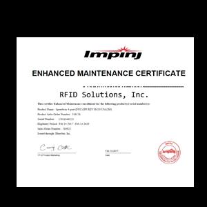Impinj Enhanced RFID Maintenance Program